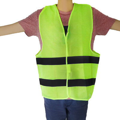 Neon Yellow Safety Vest with Reflective Strips Banding Traffic Size XXXL