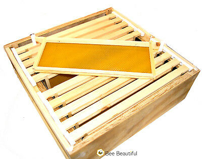 National Bee Hive super box Assembled with 10 frames, foundation