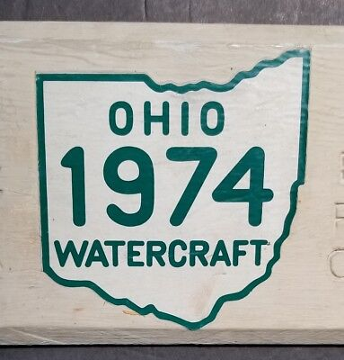 Watercraft plaque wooden 1974 Ohio Boat sign