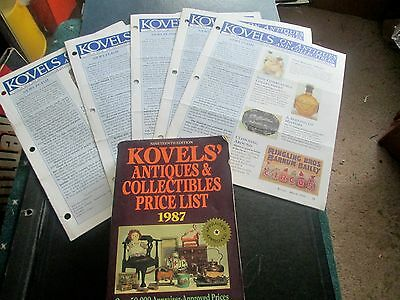 6  Kovels Guides Lot-5-1999 New Sletters 2-6-Kovels 1987 Collectibles Price List