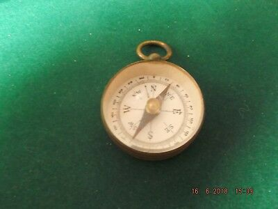 Vintage Miniature Brass Compass Military ? Scouts ?