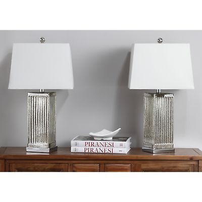 Safavieh Lighting 27 Inch Clear Rock Crystal Table Lamp Set Of 2