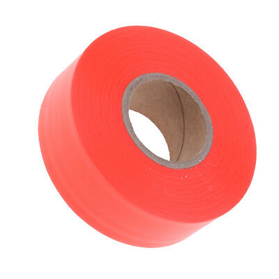 Outdoor Garden Tool Flagging Tape Trail Marking Safety Ribbon Camp Orange