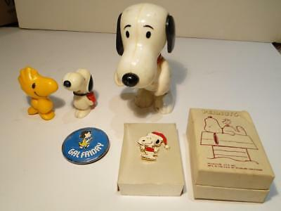 Peanuts Snoopy Collection - Figurine, Whistles, Santa Pin, Lucy Pinback Button