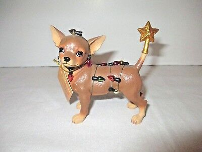 Aye Chihuahua Resin Figurine Westland Giftware CHRISTMAS LIGHTS 13372 Box