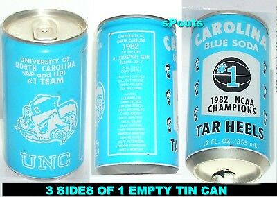 North Carolina Tar Heels Ncaa Basketball Champs Michael Jordan Sport Nc Soda Can