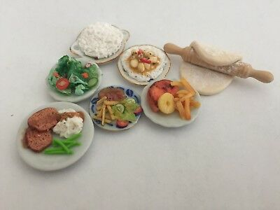LOT Dollhouse Food - 1:12 SCALE MINIATURES - HAM - MEATLOAF - CHICKEN CURRY +++