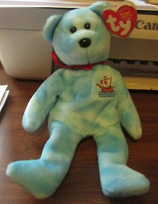 "Beanie Baby-""pinta"" Bear Born October 12,2004 Ty Store Exclusive"