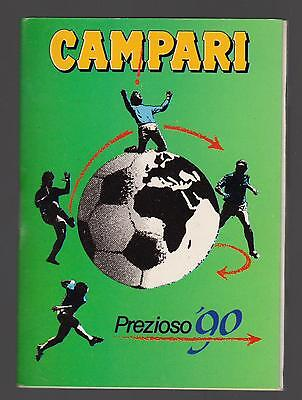 Campari Prezioso 1990 Calendario E Agendina Mondiali Di Calcio World Cup Wc