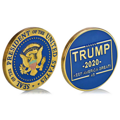 Donald J Trump 2020 Keep America Great! Presidential Seal Gold Challenge Coin