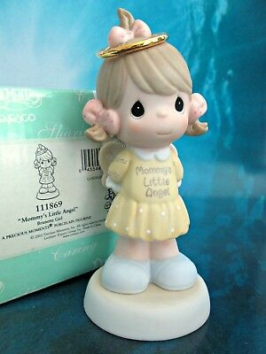 Precious Moments Mommy's Little Angel Brunette Girl Figure 111869 NIB 1st Issue