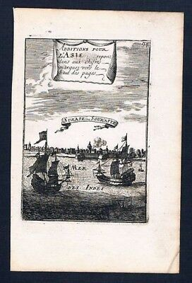 1683 - Surat Indien India Asia Kupferstich map engraving