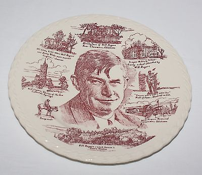 Will Rogers Vernon Kilns Metlox Collector Plate USA Embossed Edge