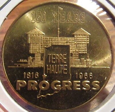 1966 Terre Haute, IN 150th Anniversary 50c Trade Token - Indiana Ind.