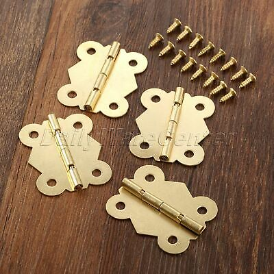 Small Butterfly Metal Hinges Jewelry Box Dollhouse Cabinet Door Hinges 33*40mm