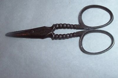 Antique Ornate Fancy Sewing Scissors Victorian Era Signed ANDERSON