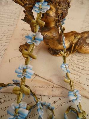 A Beautiful For-Get-Me-Not Blue Ombre Floral Ribbon Trim ~ dolls ~ (B)