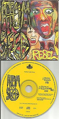 ATOM SEED Rebel w/ CYBER MIX PROMO DJ CD single BRUCE DICKISON Iron Maiden Band