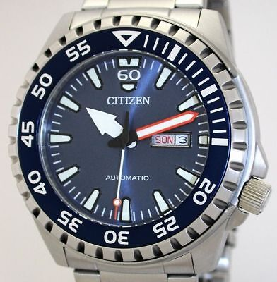 Massive CITIZEN Automatic DayDate Herrenuhr 46 mm WR 10 ATM  NH8389-88L