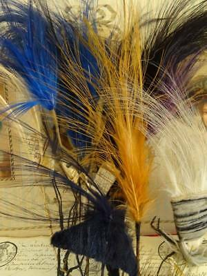 A Wonderful Collection Of Antique French Millinery Exotic Feathers C.1920