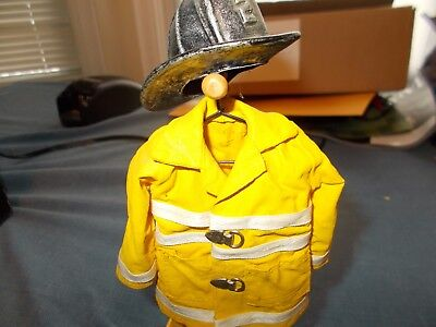 Firefighter Hanging Turn-out Gear Statue, Fire Rescue EMS