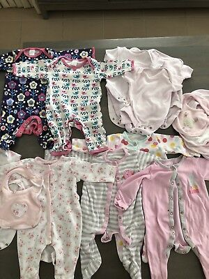 Mini Club / Mothercare Baby Girls Clothes Bundle 0-3 Months
