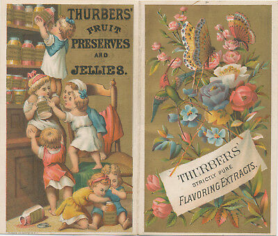 C8718  Victorian Trade Card Thurbers Fruit Preserves & Jellie