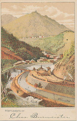 C8745  Victorian Trade Card Strangers Guide  To Frankfort  Mich