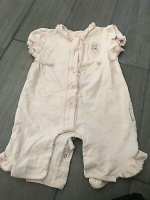 Girls Pink Romper Size 3/6 Months Bunny