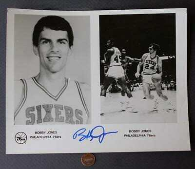 6b21be155 1978-86 Philadelphia 76ers star Bobby Jones Signed Autographed team issued  photo