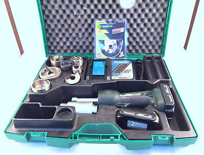 Greenlee LS50L11SP Speed Punch Kit with LS50 Battery Powered Punch Driver (BK)