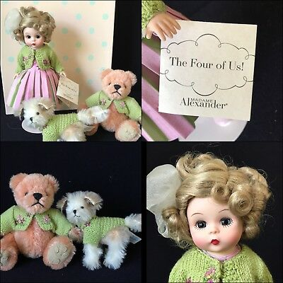 """8"""" Madame Alexander """"The Four Of Us"""" (Only 3), In Original Box 2003, As Is"""