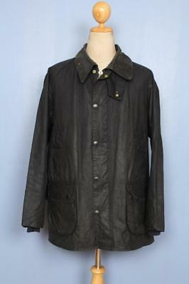 Mens BARBOUR Bedale Waxed Jacket Navy Size 44