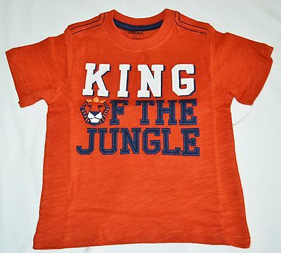 Gymboree Jungle Tour KING Of The JUNGLE Lion Orange Shirt 2T Boys NWT