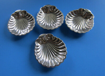 4  Vintage Sliver Plated Shell Dish made in England  -- Free Shipping *