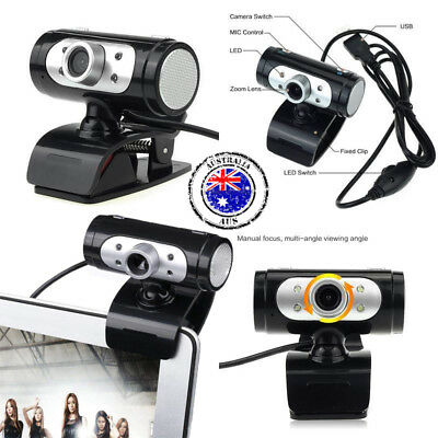 USB HD Webcam 1080P Video Web Camera with Built-in Sound Digital Microphone LED