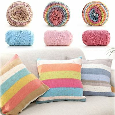 100 grams Rainbow Color Hand-woven Soft Crochet Wool Yarn For DIY Hand Knitting