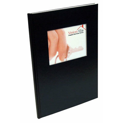 """New Coverbind 1/4"""" Black Ambassador with Window Hard Covers 11pk - 675881"""