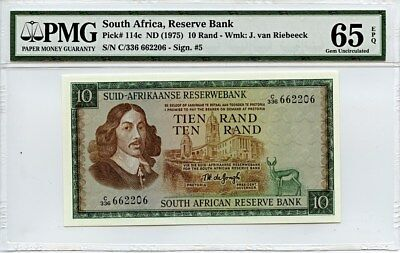 South Africa: ND (1975) 10 Rand PMG 65 EPQ (P-114c) [662206] -