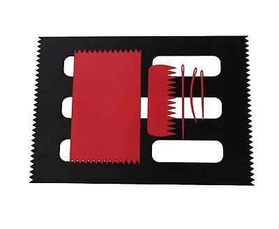 Set of Weaving Loom Boards, RED 95 x 160mm & BLACK A4 Size, Comb & Needles S7801