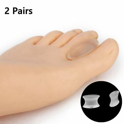 2Pair Silicone Gel Toe Spacer Separator Straightener Spreader Bunion Pain Relief