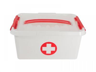Plastic EMPTY First Aid Emergency Kit Storage Holder Box with Top Tray