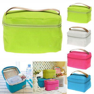 Portable Insulated Thermal Cooler Lunch Box Totes Picnic Storage Pouch Bag Pro*