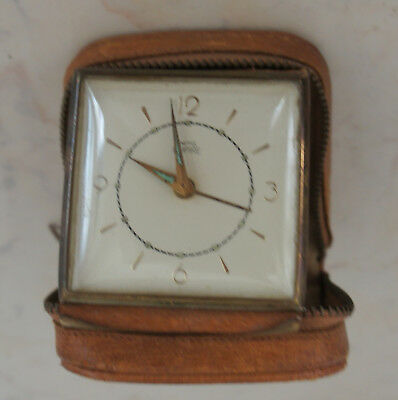 Vintage Smith Empire Travel Alarm Clock Working
