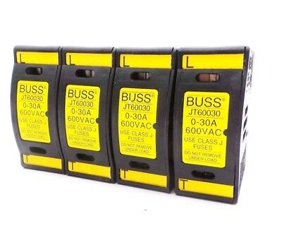 4 New Bussmann Jt60030 Fuse Holders