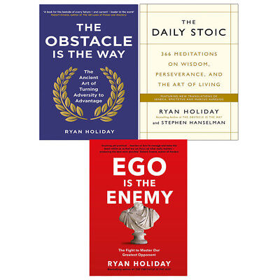 Obstacle is the Way Art of Turning Adversity Ego is the Enemy 3 Books Collection