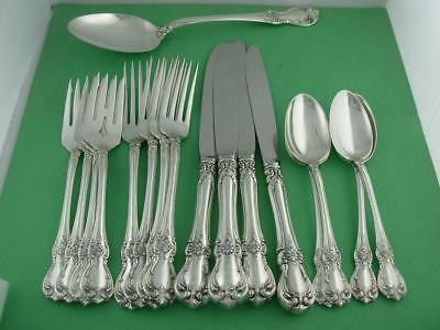 Sterling TOWLE Flatware Set (4) 4pc Place Settings & Server OLD MASTER ~no mono