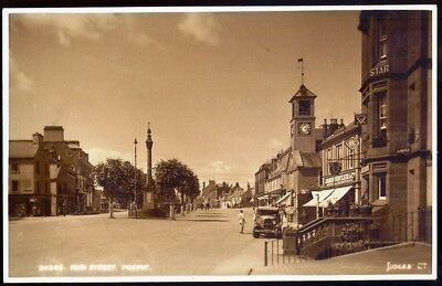 High Street, MOFFAT. Circa 1930s Vintage Real Photo Postcard. Free UK post