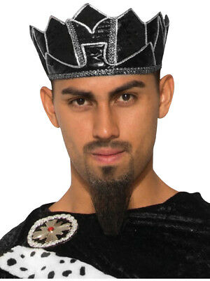 Mens Medieval Renaissance King Black Crown Royalty Headdress Costume Accessory