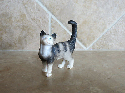 Schleich retired #13122 Cat Standing 1 1998-2009 kitty gray kitten pet